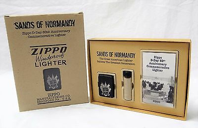 Rare Zippo Sands Of Normandy Windproof Lighter D-Day 60Th Anniversary New U.s.a.