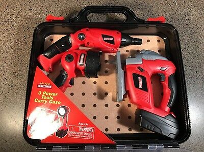 Craftsman My First Power Tools With  Led Lights Pretend Play Safe Kids With Case