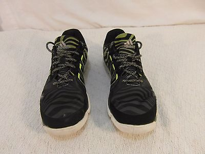 bb1dacb3e Womens Adidas Adipure Trainer Black Gray Lime Green 8 Running Tennis Shoes  33116