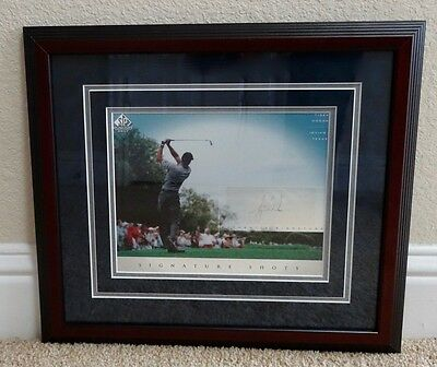 FRAMED TIGER WOODS AUTOGRAPHED PHOTO from IRVING TX - SIGNATURE SHOTS