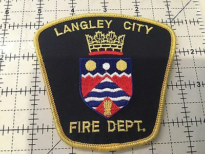Canada British Columbia Patch Langley Fire Department