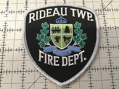 Canada Ontario Patch Rideau Township Fire Department