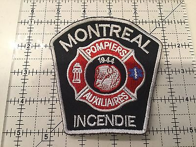 Canada Quebec Patch Montreal Auxiliary Fire Department Incendie