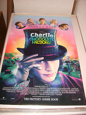 CHARLIE AND THE CHOCOLATE FACTORY (2005) US ORIGINAL 27x40 DS MOVIE POSTER (468)