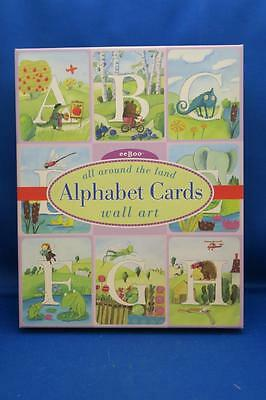 eeBoo ALL AROUND THE LAND ALPHABET CARDS WALL ART Melissa Sweet Animals Nursery