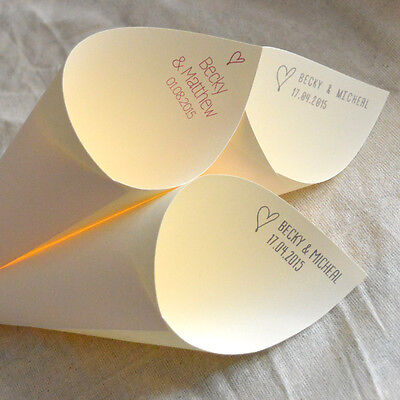 Personalised confetti cones - various colours and fonts (x10)
