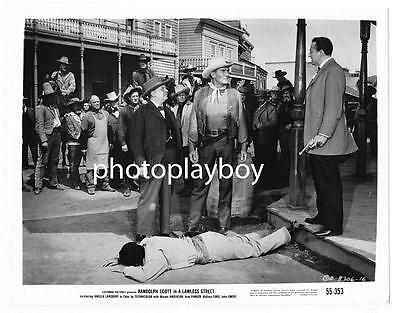 Randolph Scott Shootout On A Lawless Street Original Western Movie Photo #4 1955