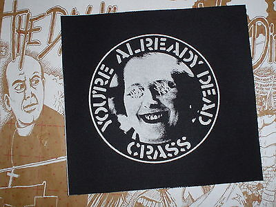 "Crass ""you're Already Dead"" Cloth Patch Amebix Chaos Uk Engine Peace Punk Diy"