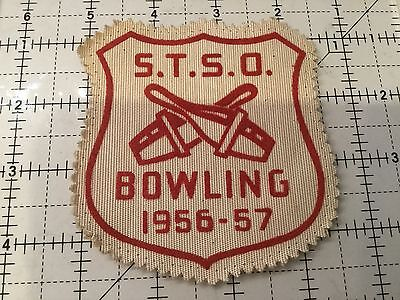 Vintage STSO Bowling Patch 1956 - 57