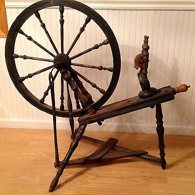 18th CENTURY SPIN / SPINNING YARN WHEEL {ANTIQUE} CHARMING PIECE