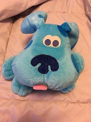 Fisher Price Nick Jr Blues Clues Plush Dog Hand Puppet Toy
