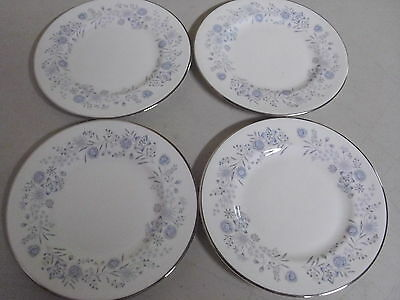 Lot Of 4 Wedgwood Belle Fleur Bone China Plates 6 Inches