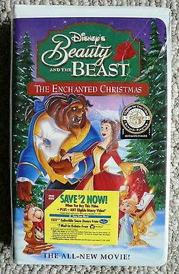 Beauty and the Beast: An Enchanted Christmas VHS NEW & Sealed Clamshell