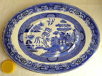 Staffordshire J. Dimmock & Co Stone China Platter w/ Well England 19th C 15 X 12