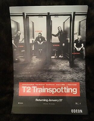 T2 Trainspotting Poster A3 Odeon LIMITED EDITION