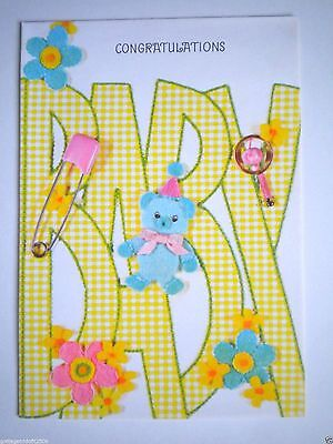 """Vintage """"congratulations"""" New Baby/baby Shower Greeting Card & Envelope"""