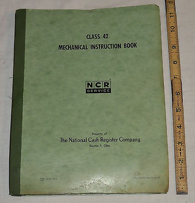 National Cash Register NCR Class 42 Posting Mechanical Instruction Manual © 1959