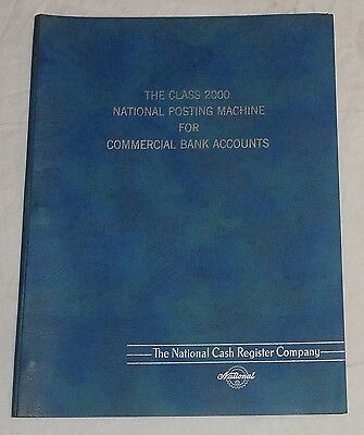 NCR National Cash Register Class 2000 Posting Machine Commercial Banks Booklet