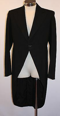LARGE, MENS,BLACK SWALLOW TAIL COAT. ORIGINAL VINTAGE 1930's TAILOR MADE ADELAID