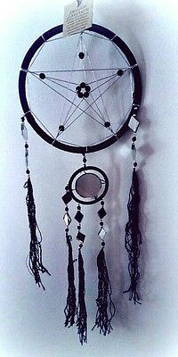 Black Pentacle Dream catcher / pentagram pentacle wicca witchcraft pagan goth