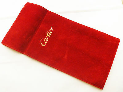 Cartier Suede Travel Watch Jewelry Accessory Case Pouch Bag - Free Shipping