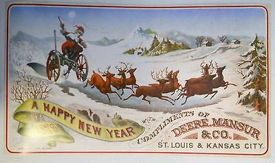 1991 Advertising Poster 1879 A Happy New Year Compliments of Deere Mansur & Co.