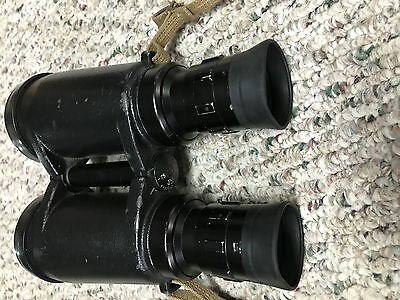 LEITZ ELCAN Military 7X50 Binocular with Canadian Pattern 64 Web Case