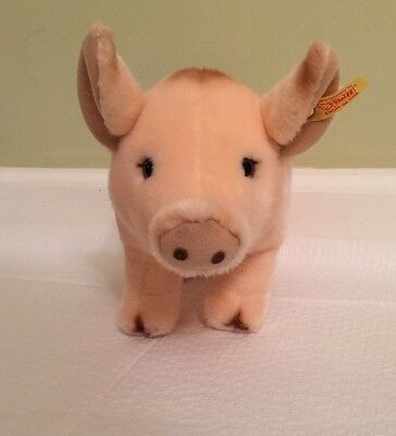 Steiff ~ Made In Germany Adorable Plush Pig Piglet Sissi 071874 Excellent
