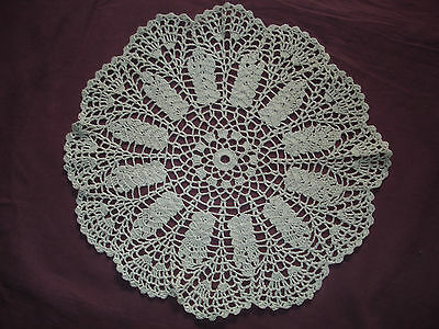 #914  Beautiful Vintage Hand Made Doily  30cm(12'')