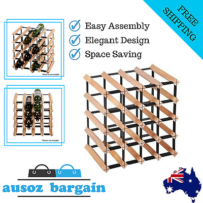 Timber Wine Space Saver Rack 20 Bottles of Quality Pine Wood FREE DELIVERY