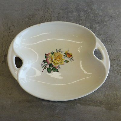Mid Century Lord Nelson Ware Pottery Dish England no.3251 Yellow Roses 1956+