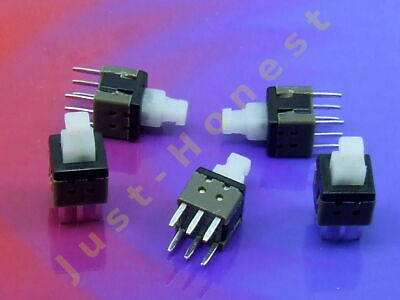 Stk. 5 x MINI Schalter / Switch 6mm x 6mm LATCHING Mikroschalter THT PCB #A283