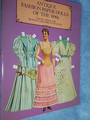 1984 Antique Fashion paper Dolls of the 1890s