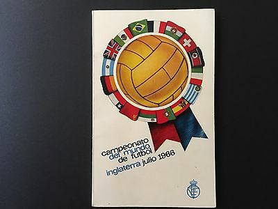 1966 FIFA World Cup. Programme Spanish Football Federation