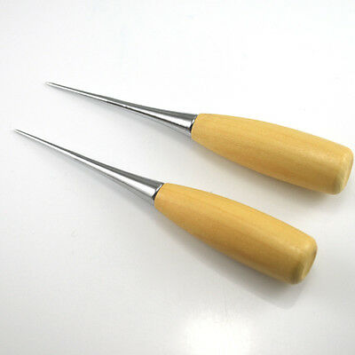 AWL Patchwork DIY Leather Tool Wooden Handle Sewing Awl Stitcher Needle