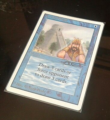 MTG Ancestral Recall NM/EX artist signed Unlimited Power9
