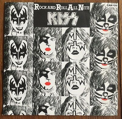 "Kiss - Rock and Roll All Nite 7"" single with rare picture sleeve"