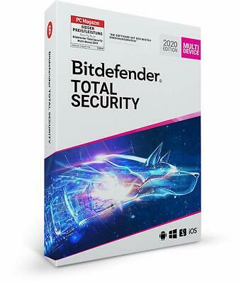 Bitdefender TOTAL SECURITY MULTI DEVICE 2019 * 5 Geräte 1 Jahr * DE Lizenz