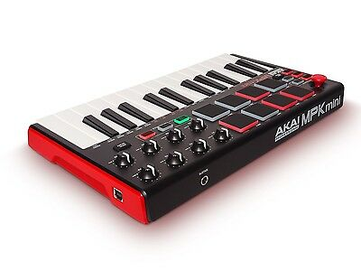 AKAI Professional MPK Mini MKII 25-Key Portable USB MIDI Keyboard