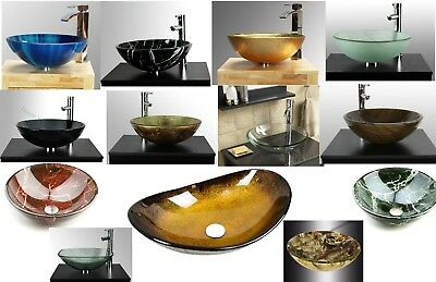Bathroom clock room countertop glass basin sink ( Fast & free delivery )