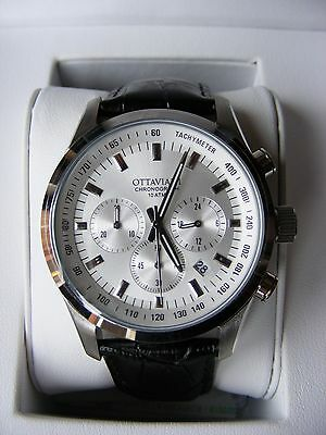 Ottaviani Italian Men's Chronograph Watch 16004BR NEW Boxed With Tags