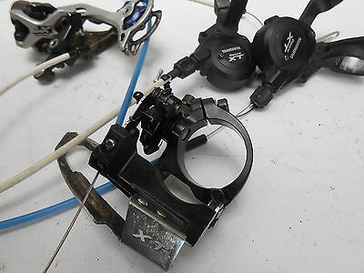Shimano XT group set front/rear shifters and deraileurs