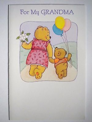 """Carlton Cards ~ """"FOR MY GRANDMA"""" MOTHER'S DAY GREETING CARD w/ENVELOPE"""