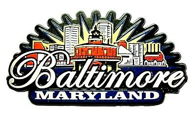 Baltimore Maryland Sunburst Fridge Magnet