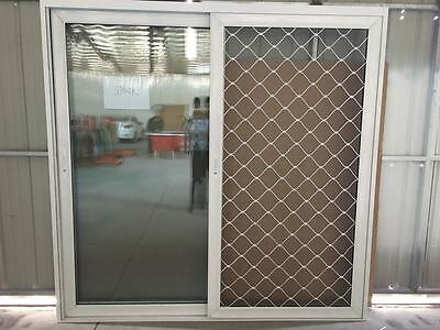 ALUMINIUM Double Gazed Clear Glass  Sliding Door 2110h*1815mm WHITE & GRAY COL