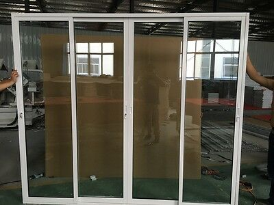 ALUMINIUM Stacker Door Double Gazed French Design Sliding Door 2110h*2415mm