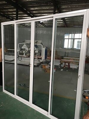 ALUMINIUM Stacker Door  Double Gazed French Design Sliding Door 2110h*2730mm