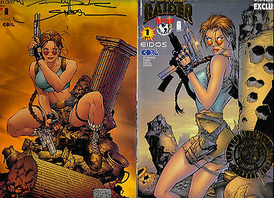 6 Tomb Raider Variants #1 Holofoil Another Universe Tower #1 #2 DF 4 5 VF/NM FZ