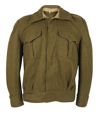 Replica 1937 WW2 Battle dress Tunic Military Army Re-enactment Enthusiast