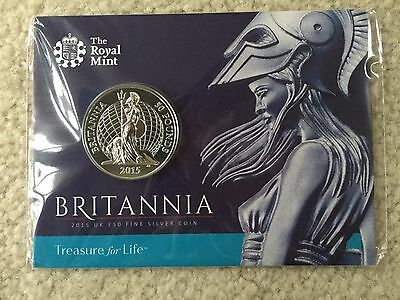 2015 Britannia UK Royal Mint £50 Silver Coin Great Britain Pounds
